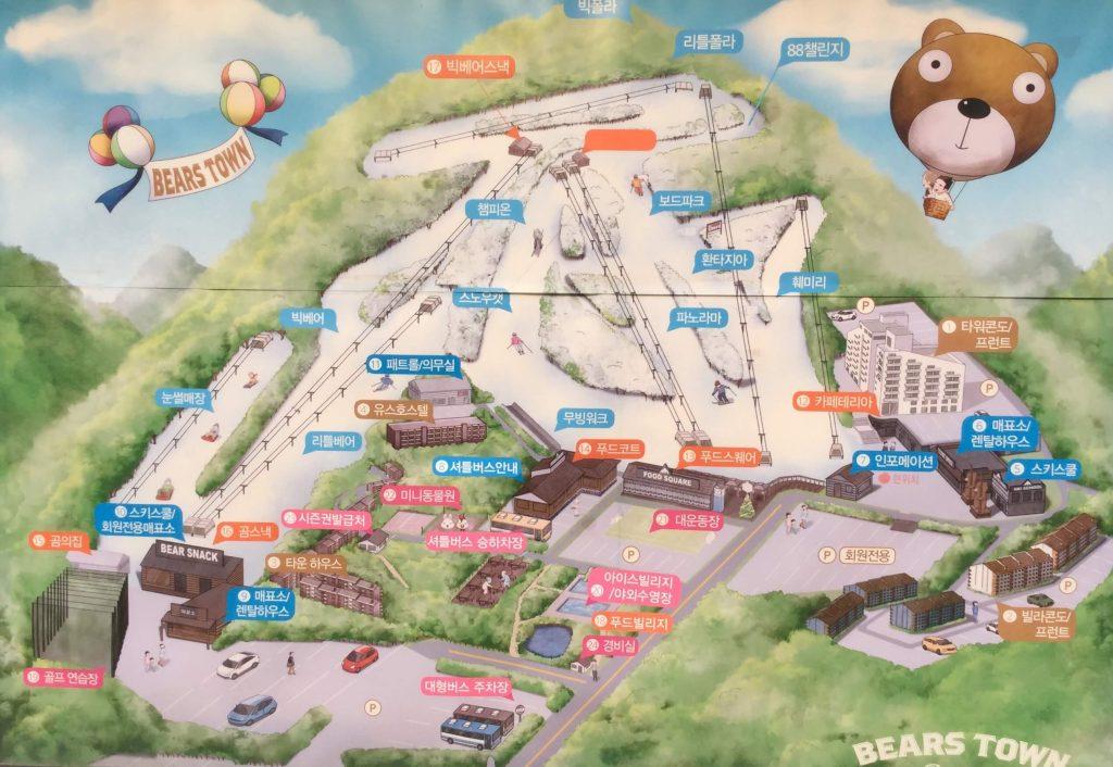 Bears Town piste map