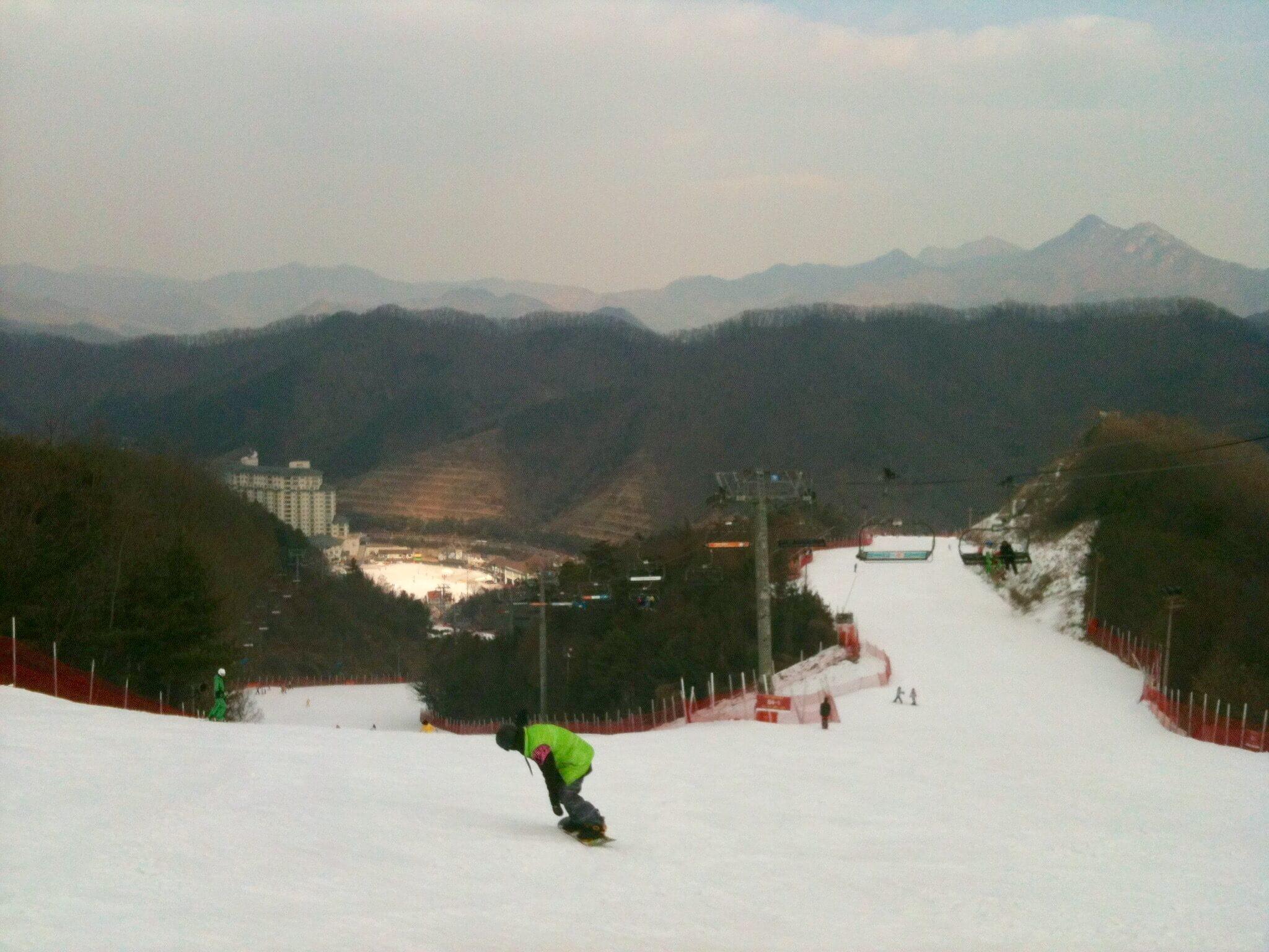 Elysian Gangchon ski slopes