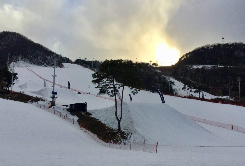 Jisan Forest Resort's terrain park
