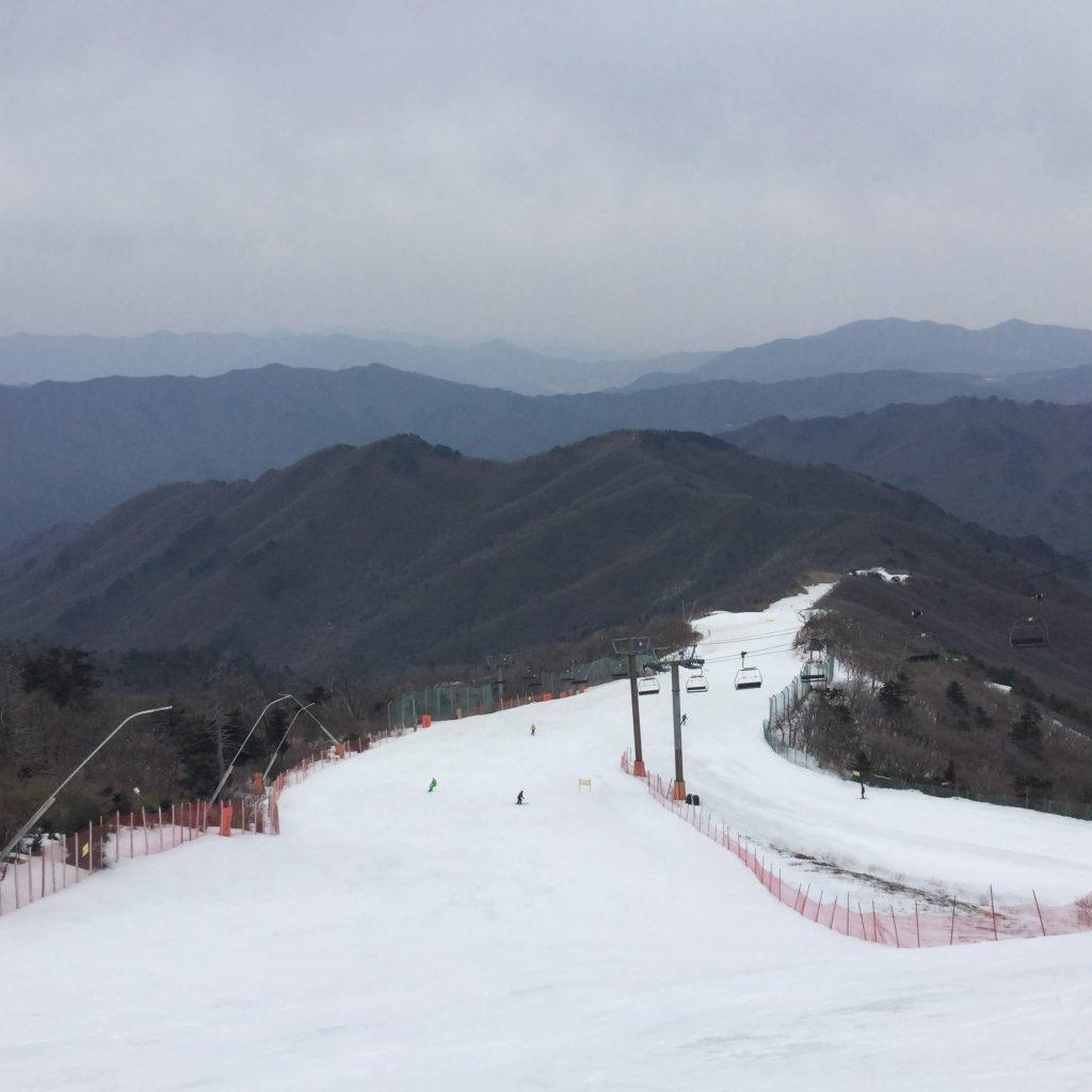 Ski slopes at Muju Deogyusan Resort