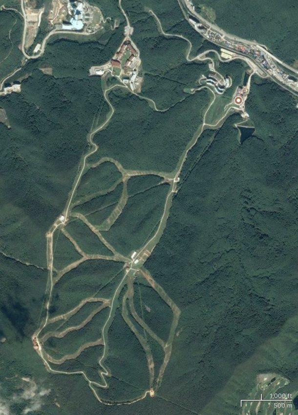 Satellite view of High1 ski resort, Korea