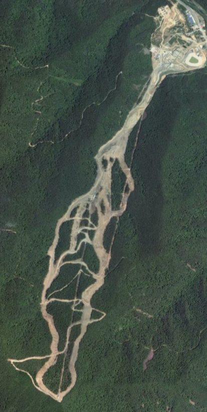 Satellite view of Jeongseon Alpine Centre, Korea