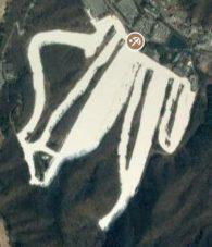 Satellite view of Jisan Forest ski resort, Korea