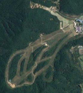 Satellite view of Konjiam ski resort, Korea