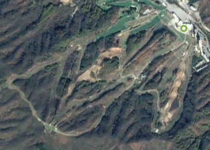 Satellite view of Phoenix Park ski resort, Korea