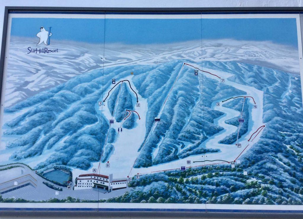 Star Hill Resort piste map