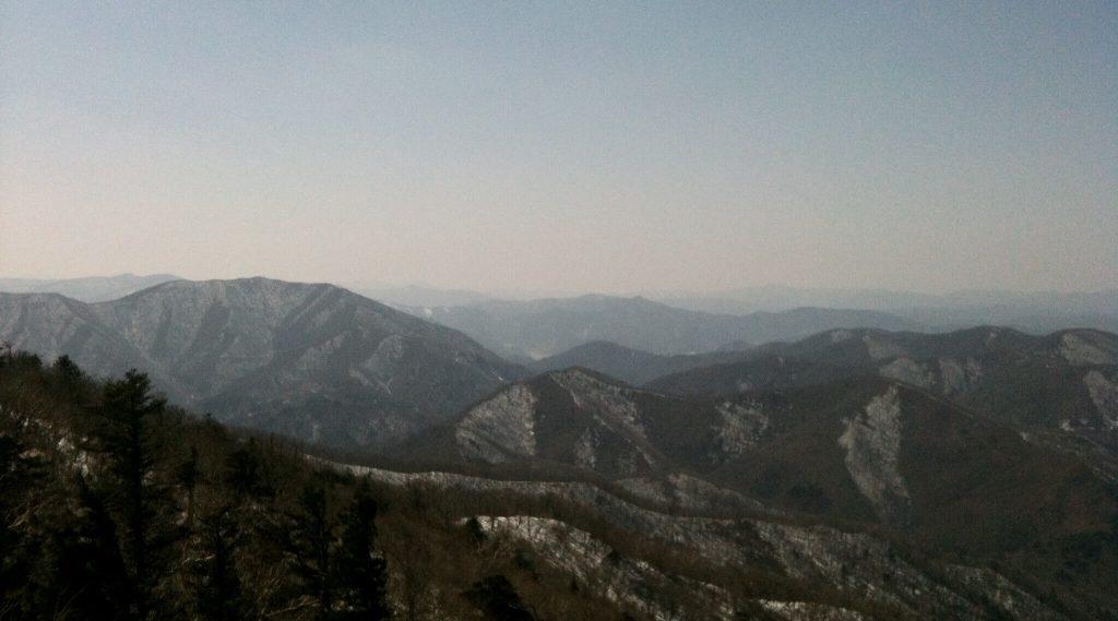 Mountain scenery at Yongpyong Resort