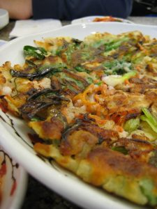 Haemuljeon (seafood pancake)