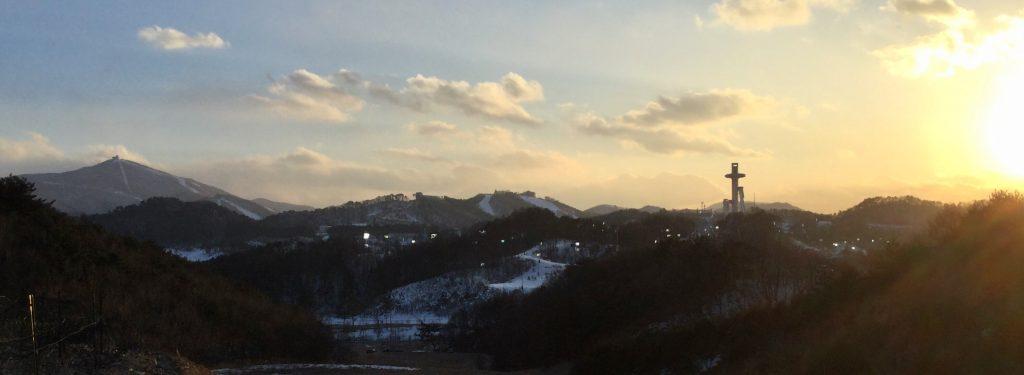 View of Yongpyong & Alpensia resorts