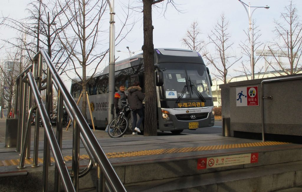 Oak Valley shuttle bus