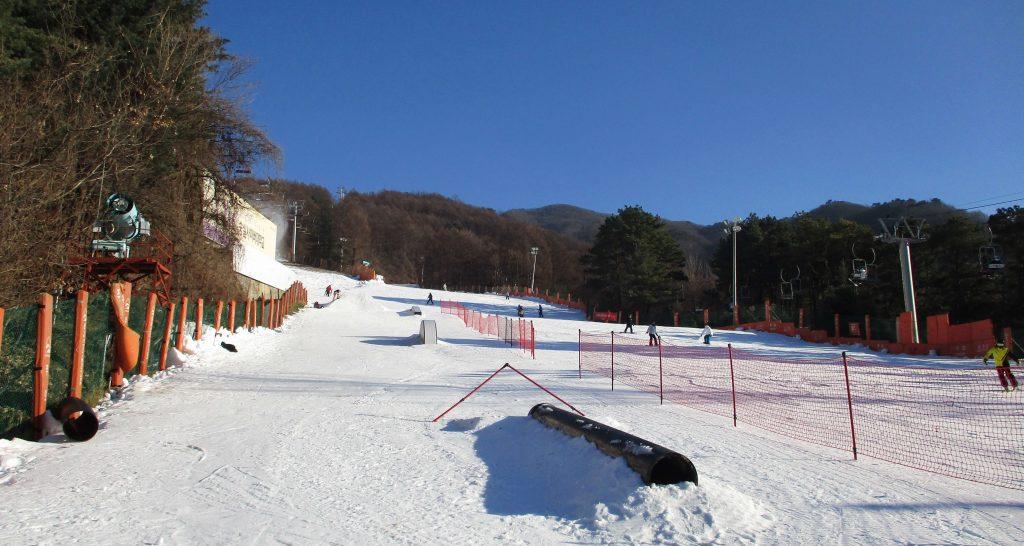 Terrain park at Bears Town ski resort